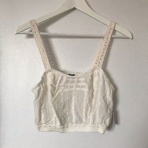Urban Outfitters White Eyelet Crop Top